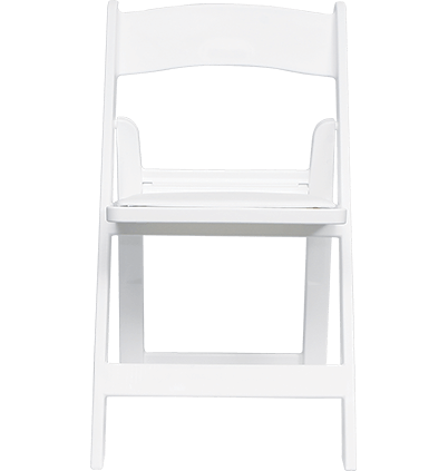 Classic White Folding Chairs