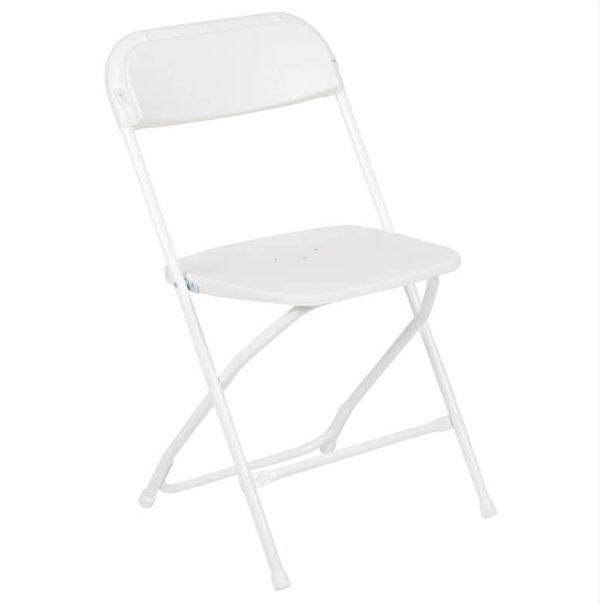 White Samsonite Folding Chairs