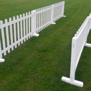 White Vinyl Pickett Fence